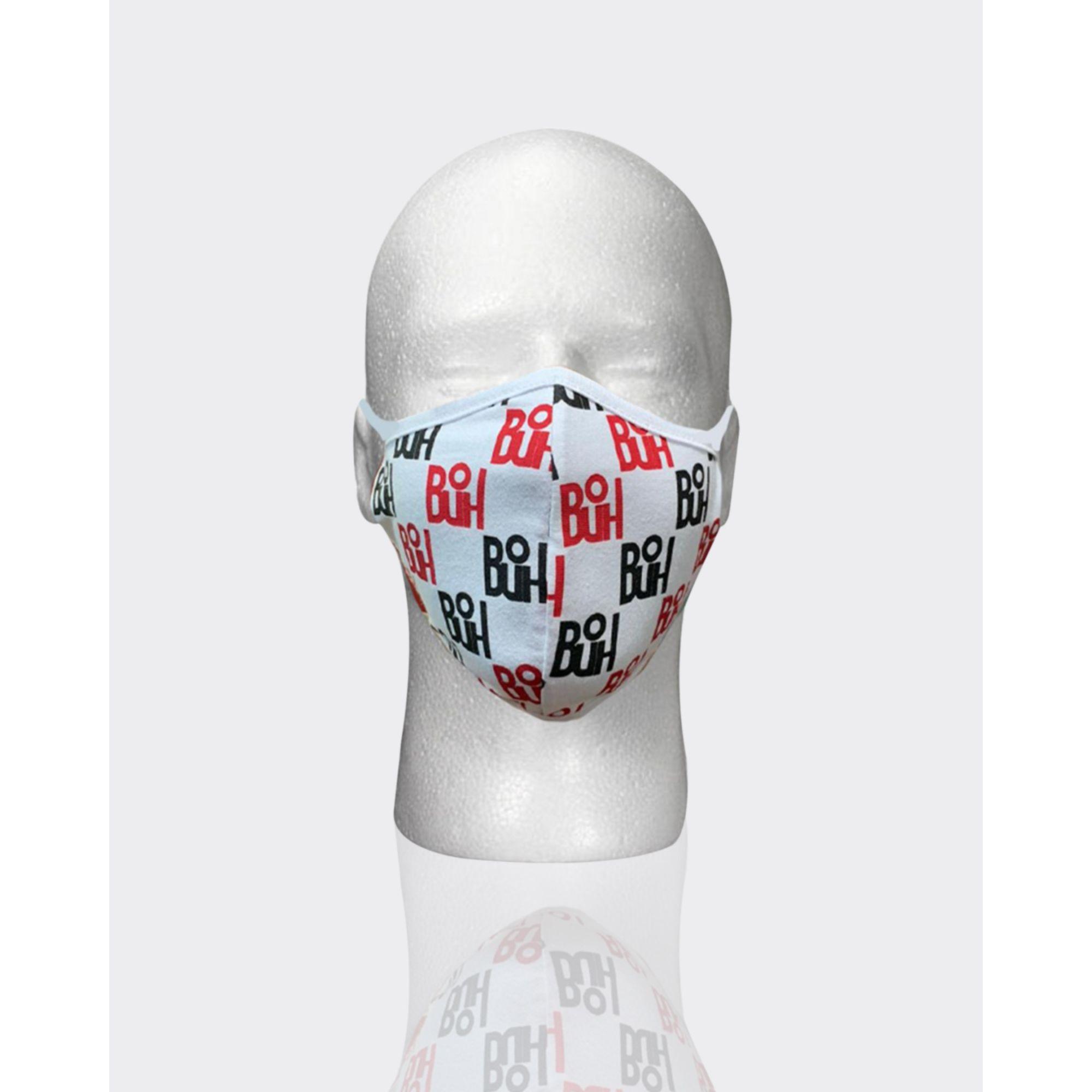 Máscara Buh Proteção Full Print Black & Red