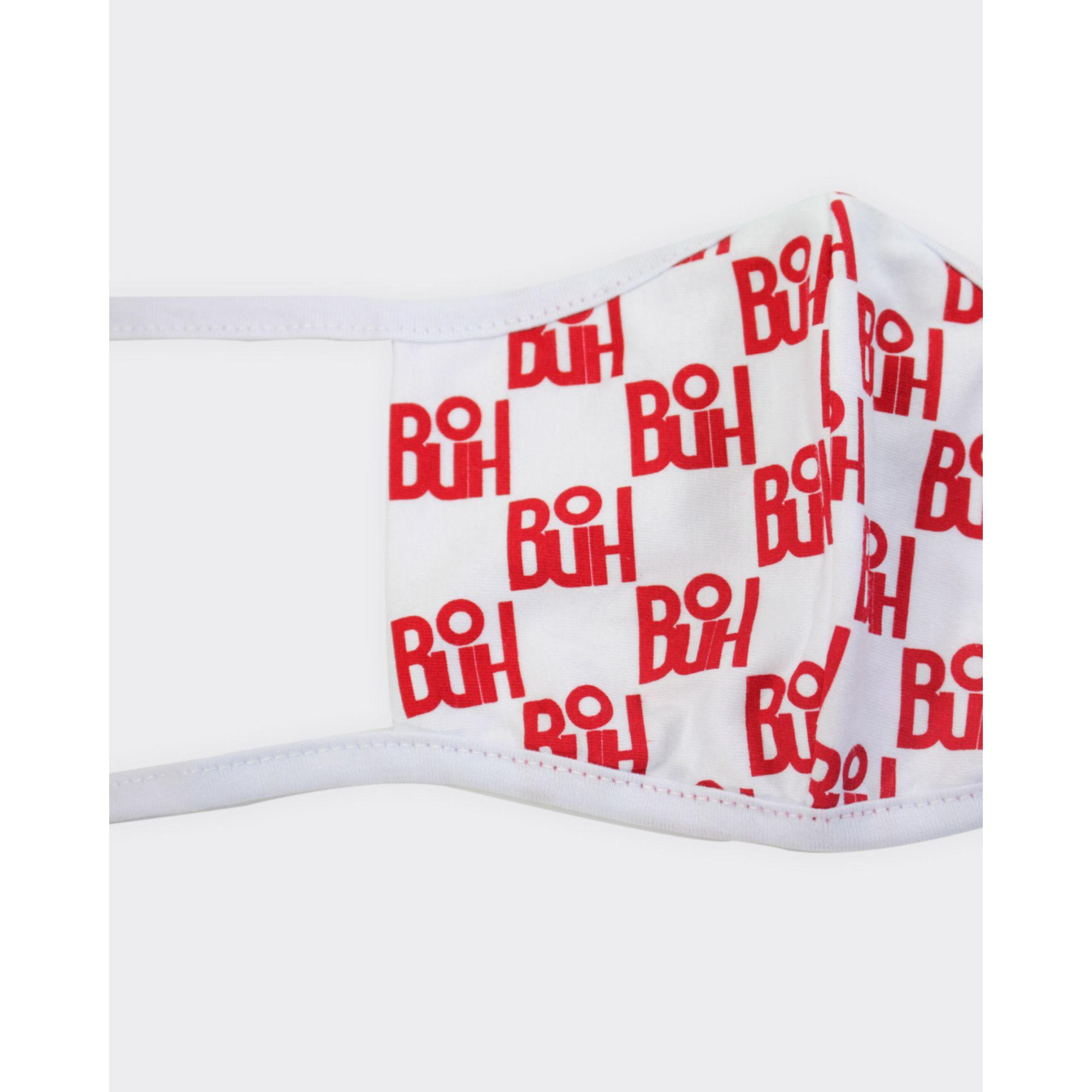 Máscara Buh Proteção Full Print Red & White