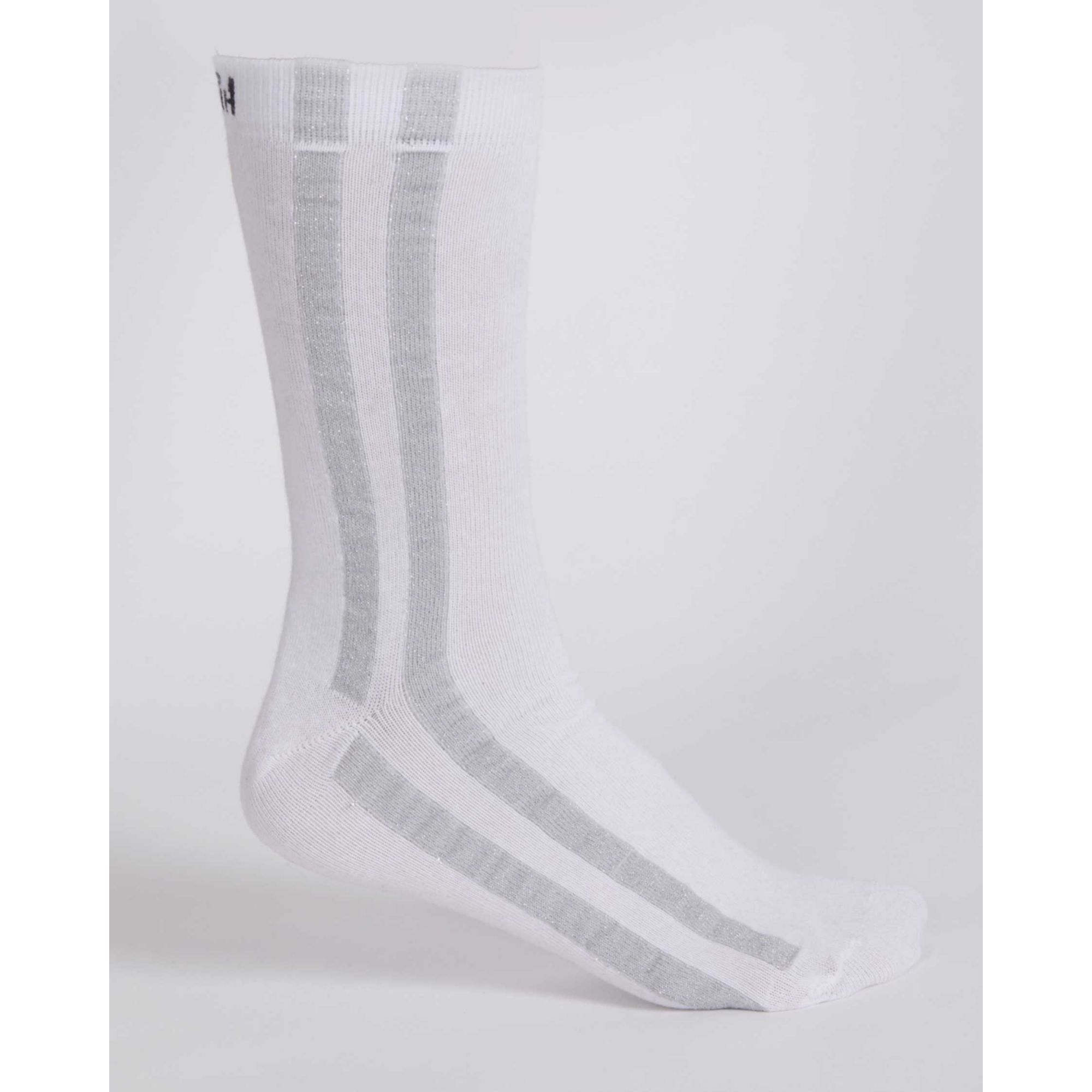 Meia Buh Stripe Foil White