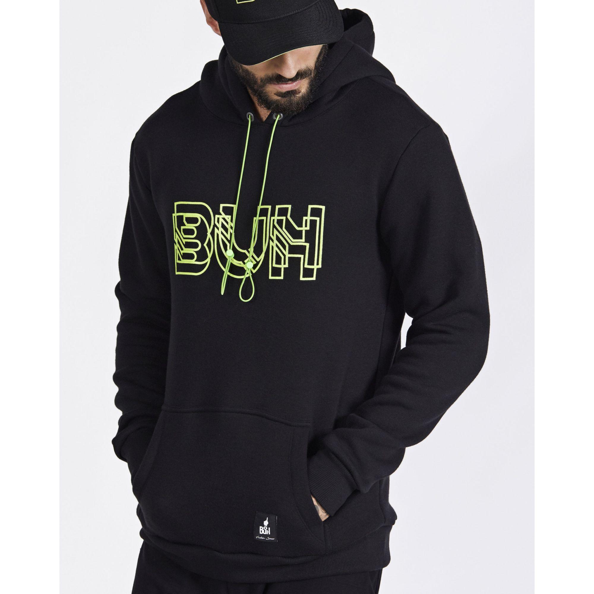 Moletom Buh Neon Black & Green
