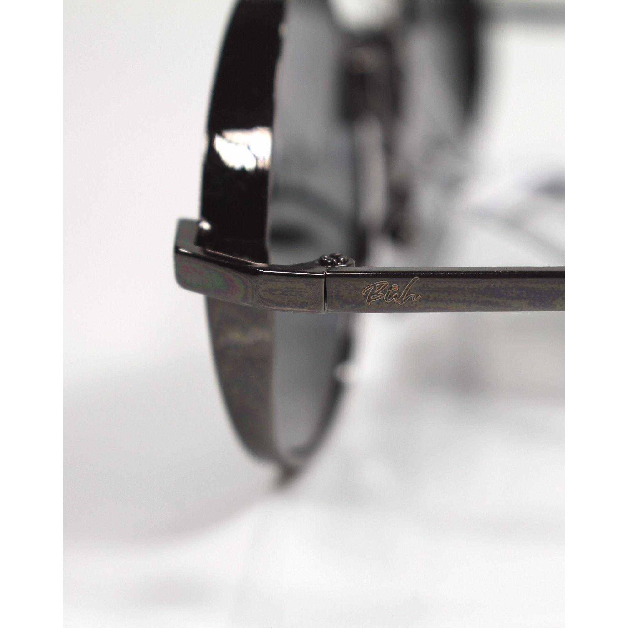 Óculos Buh de Sol Redondo Black