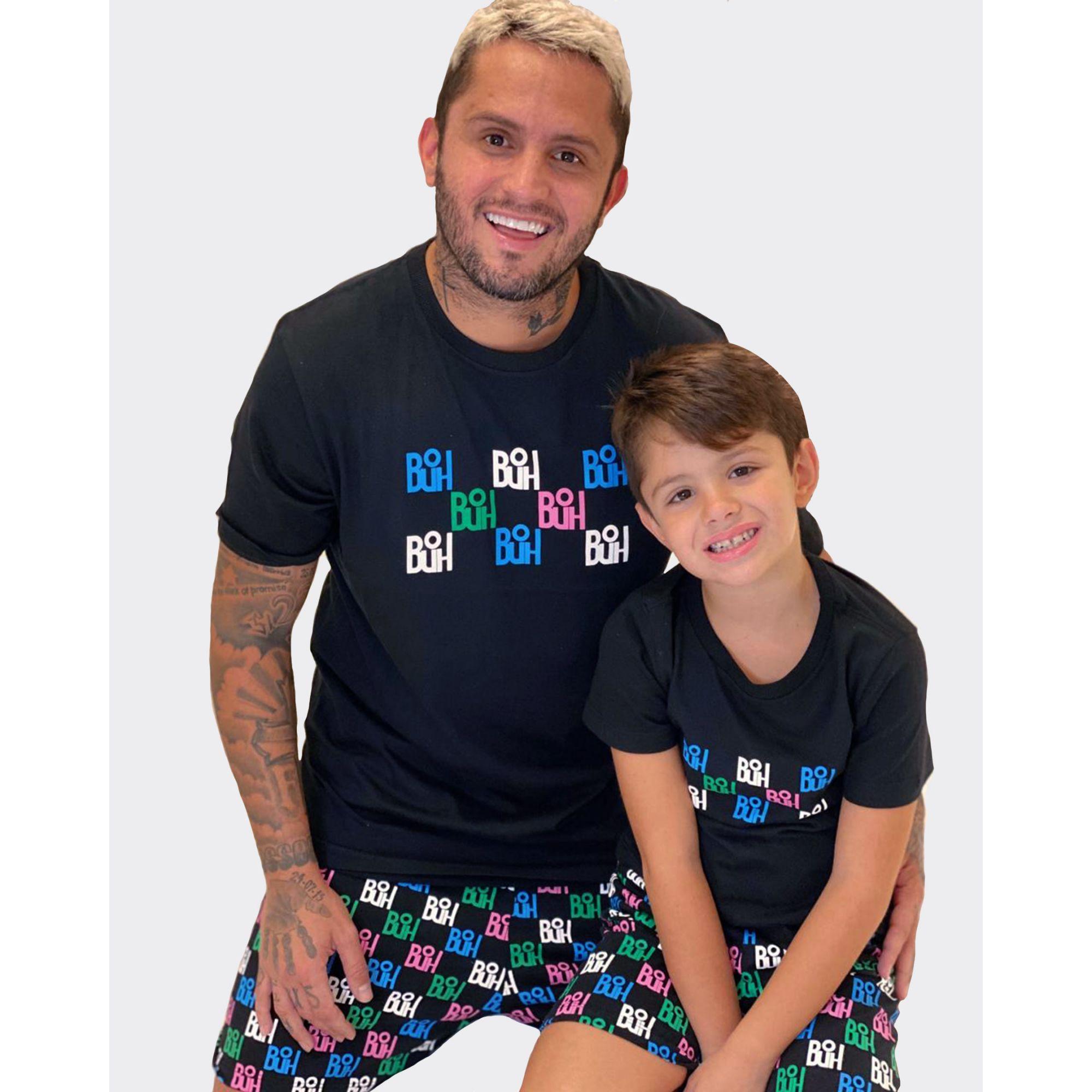 Pijama Buh Kids Full Print Black
