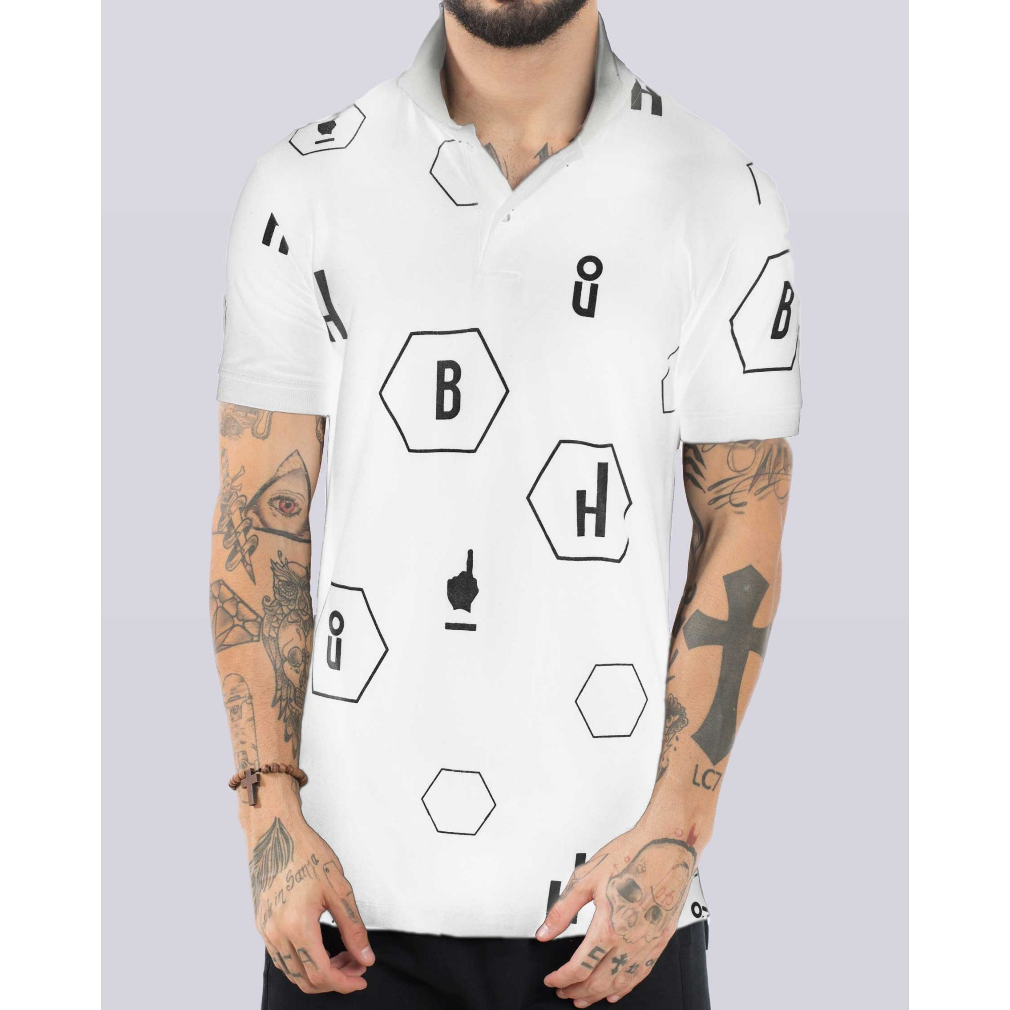 Polo Buh Hexagono Finger White