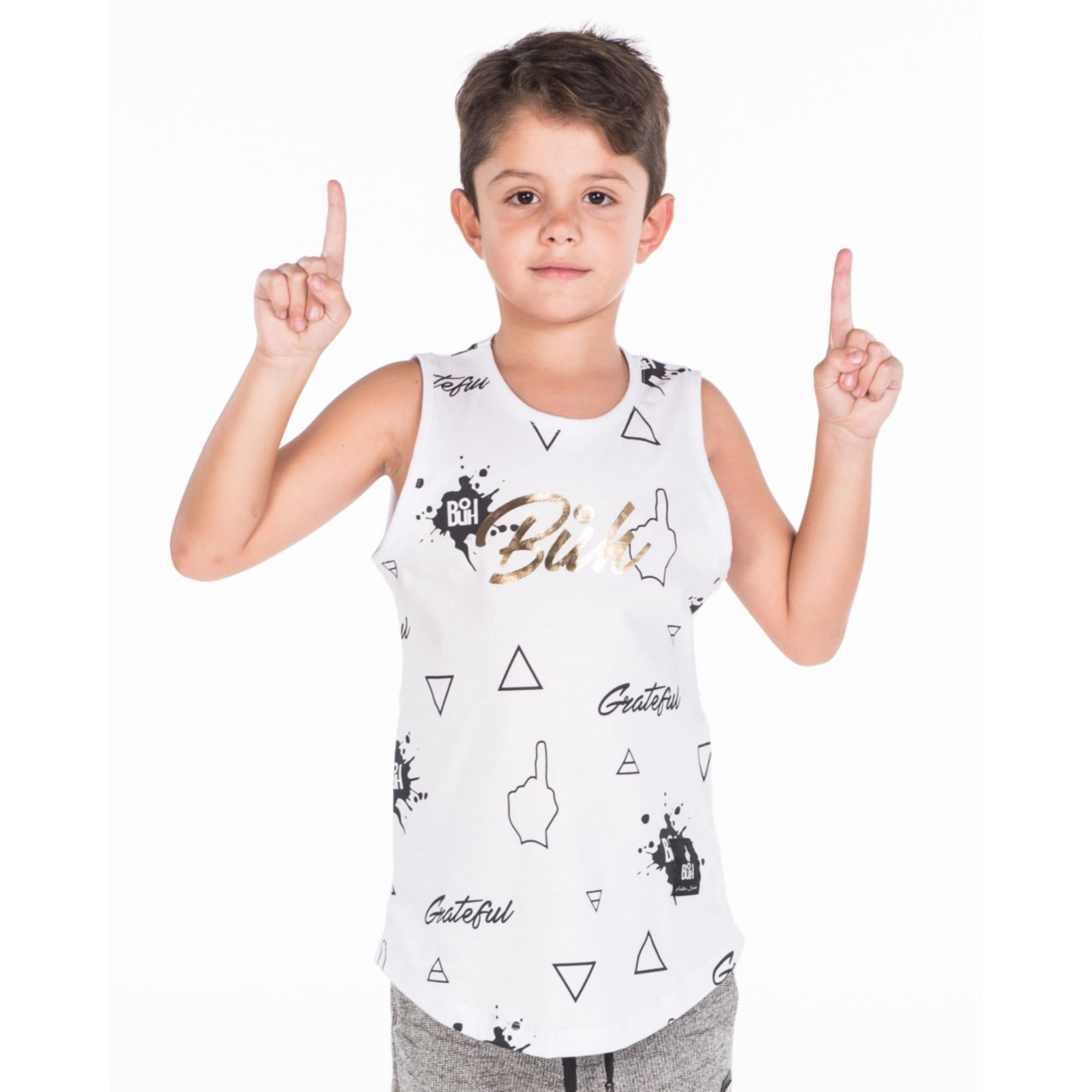 Regata Buh Kids Full Logo White