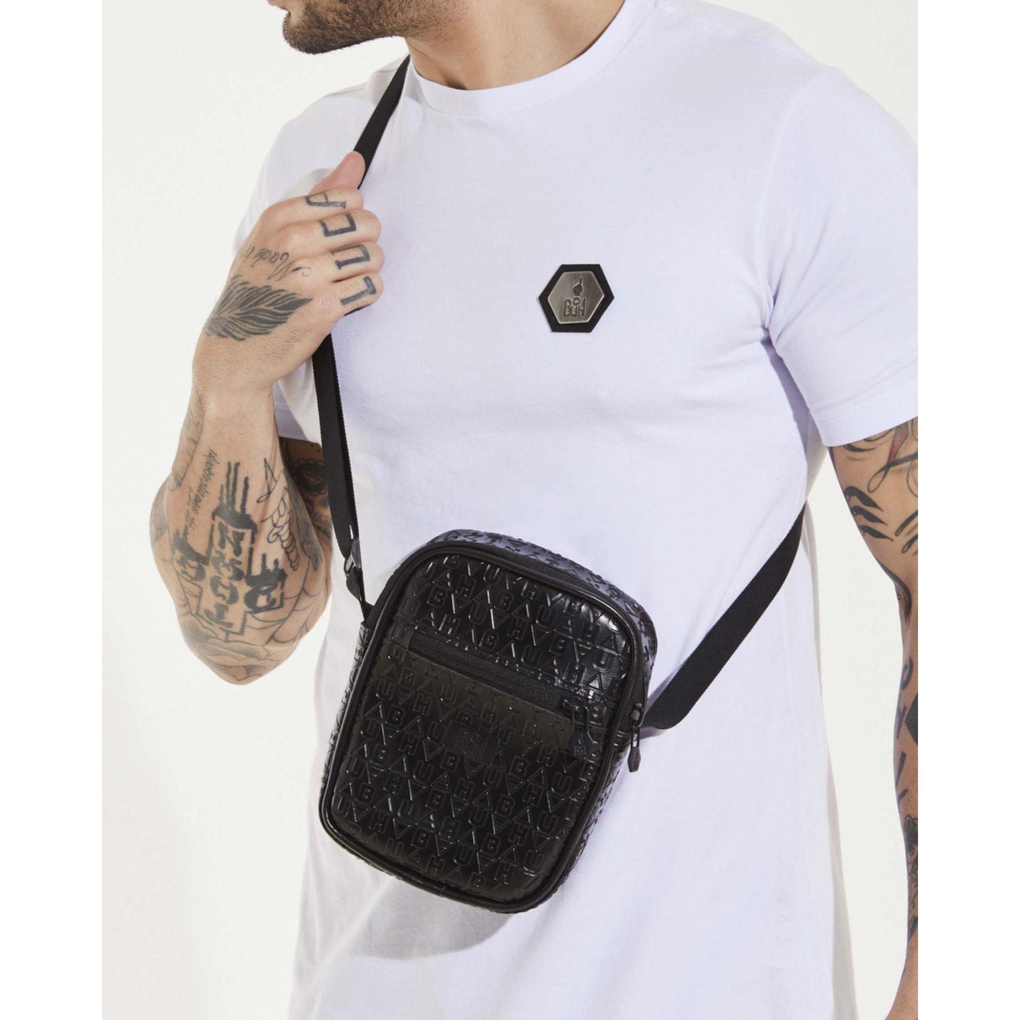 Shoulder Bag Buh Couro Elementos Black