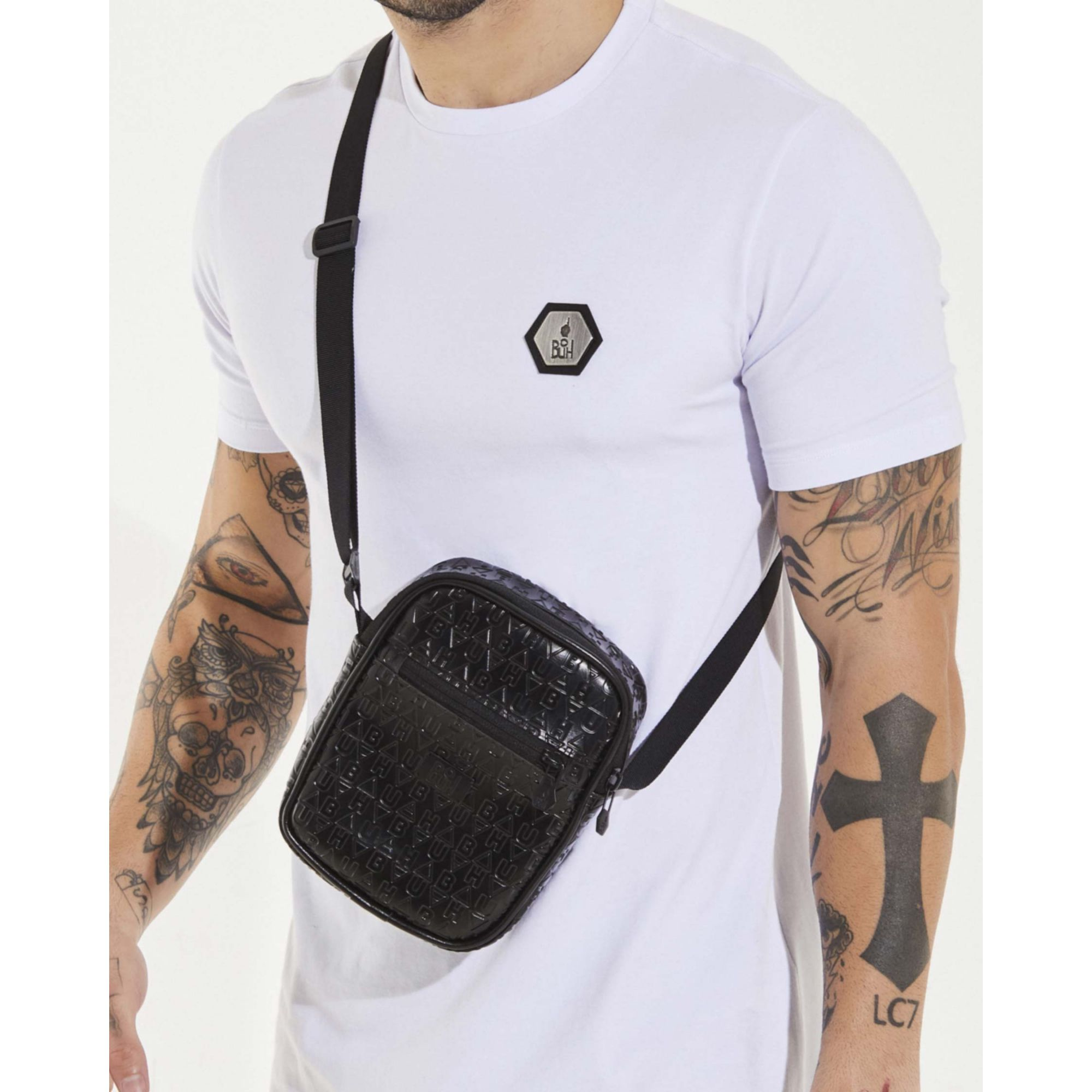 Shoulder Bag Buh Couro Elementos Black