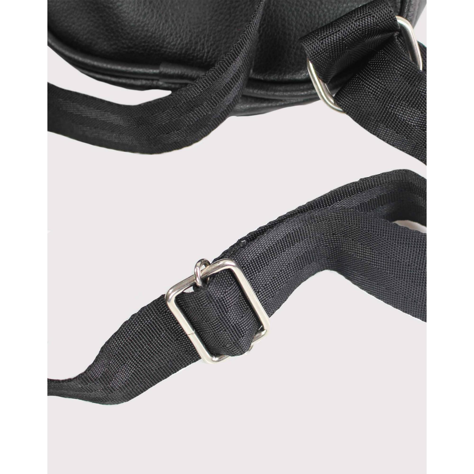 Shoulder Bag Buh Zíper Glitter Black
