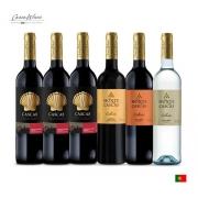 Combo C/6 Vinhos Português Cascas E Monte Cascas