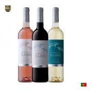 Kit Vinho Português Terra Do Sado Tinto , Branco E Rose