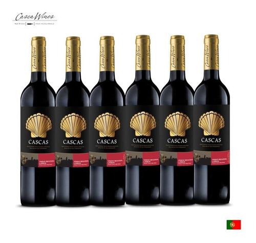 Combo C/6un Vinho Português Cascas Lisboa Tinto