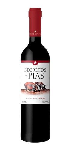 Combo C/ 6un Vinho Português Secreto De Pias Tinto 750ml