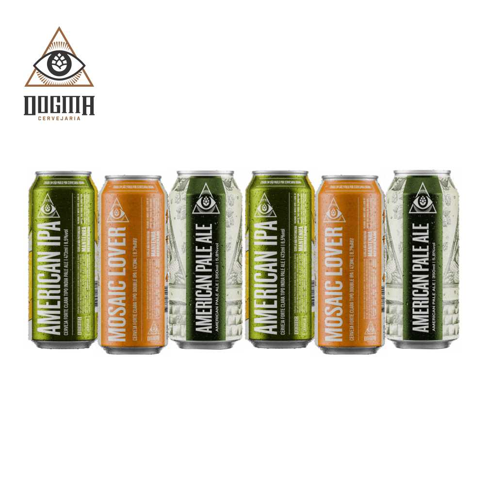 Combo Dogma 6 unidades 473 ml  (American Ipa , Mosaic Lover e American Pale Ale )