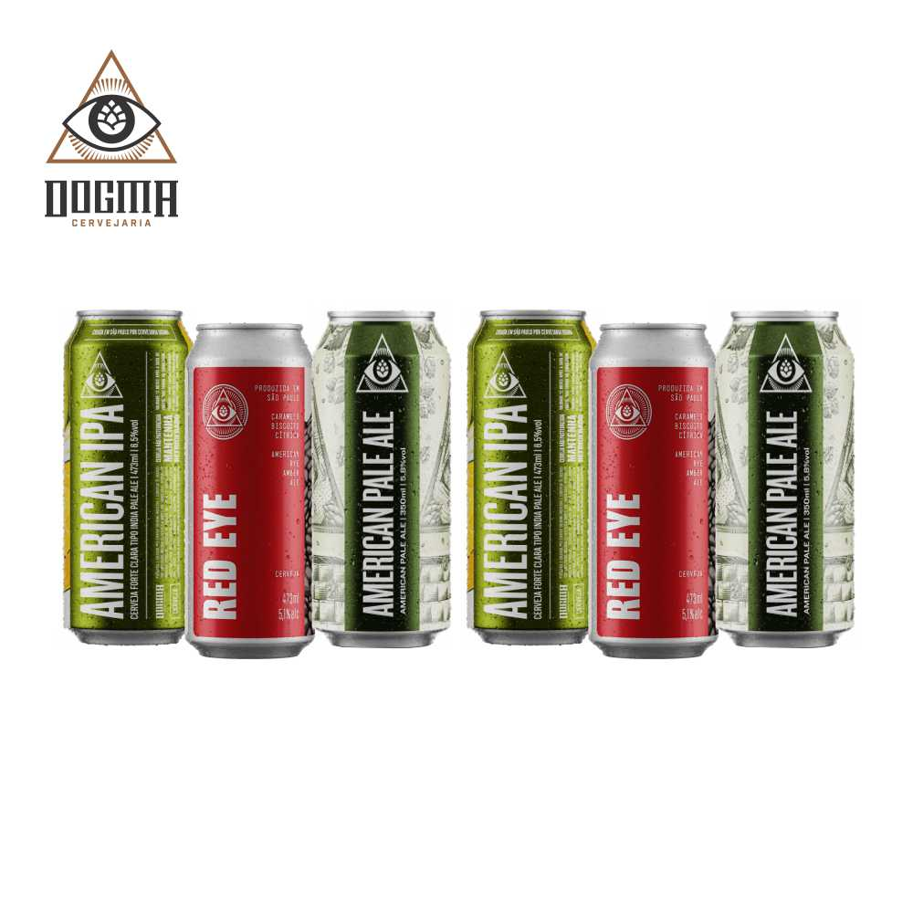 Combo Dogma 6 unidades 473 ml  (American Ipa , Red Eye e American Pale Ale )