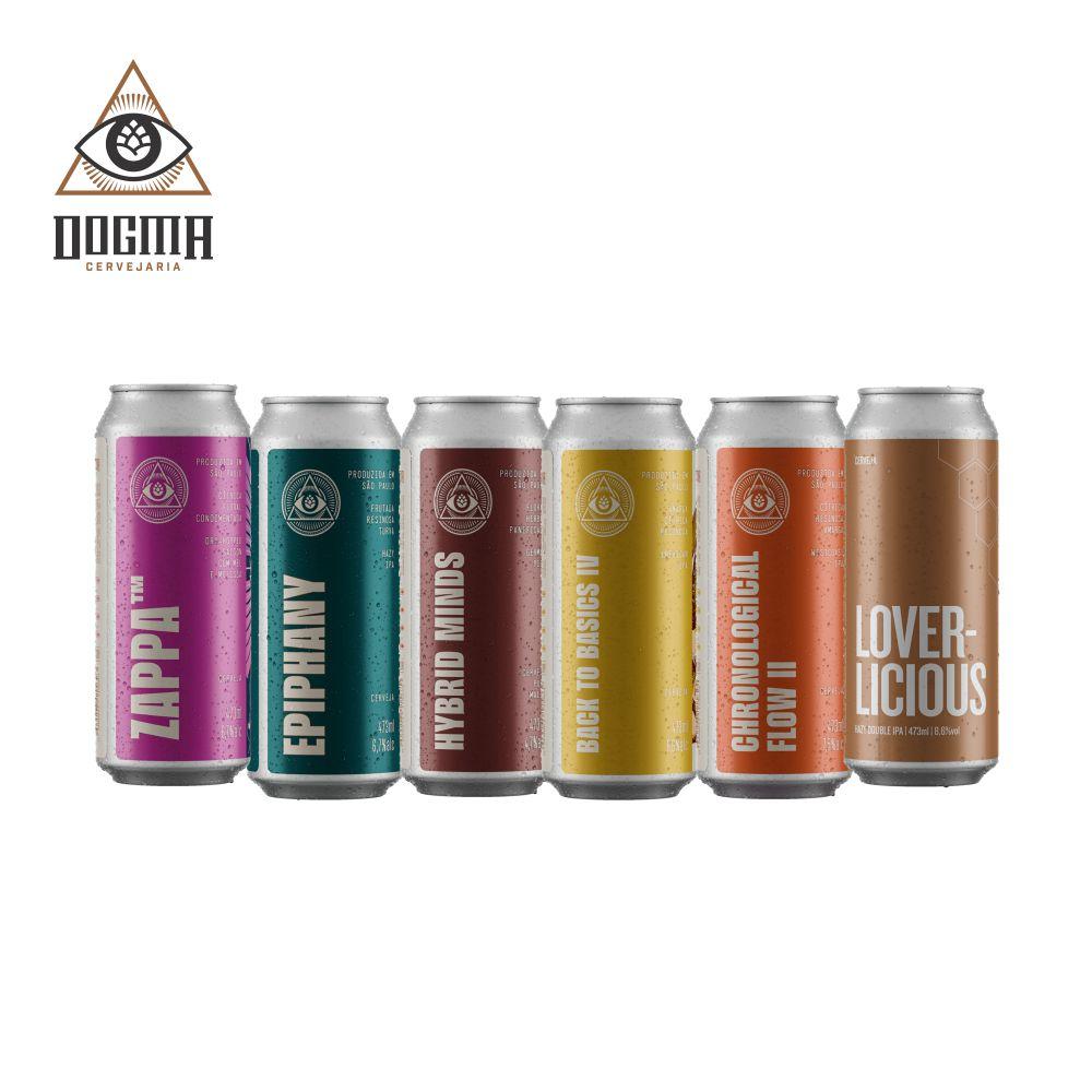 Combo Dogma 6 unidades 473 ml  (Zappa , Epiphany , Hybrid Minds , Back to Basics IV ,Chronological Flow II ,Loverlicious)