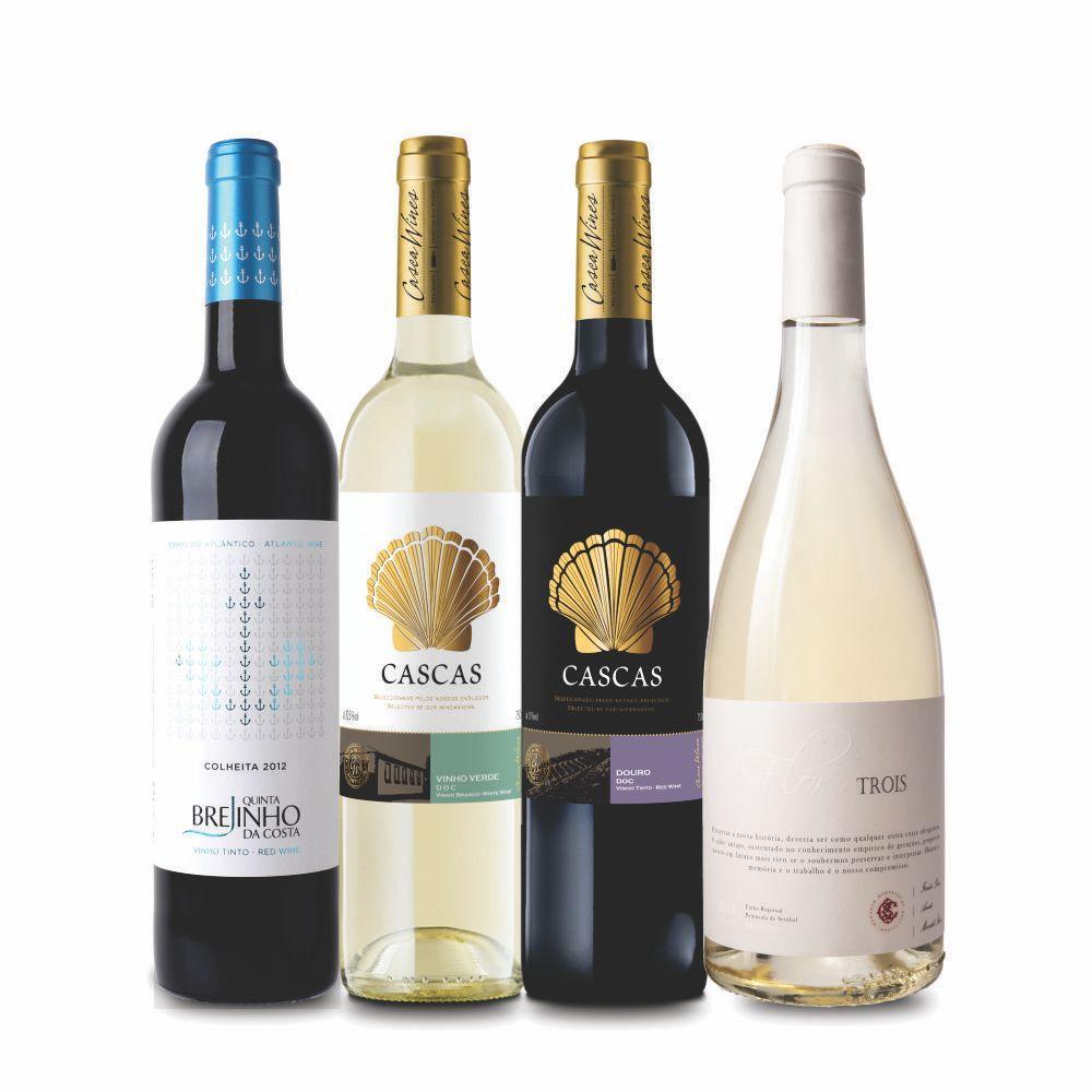 Combo Misto Vinhos de Portugal  C/ 4