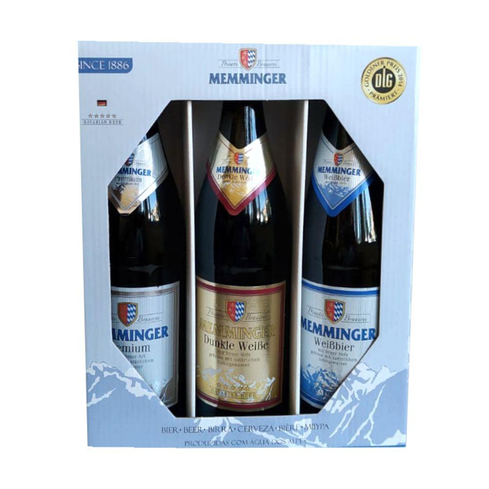 Kit Cerveja Alemã Memminger 500ml 3unidades