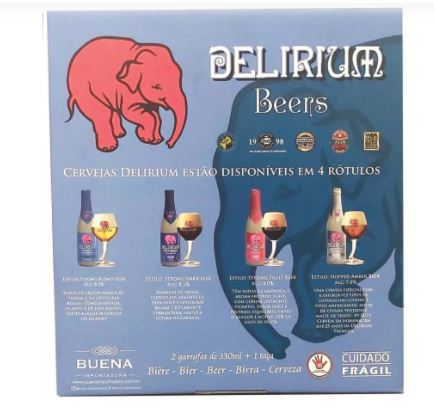 Kit Delirium Tremens e Red + 1 Taça Tromba do Elefante