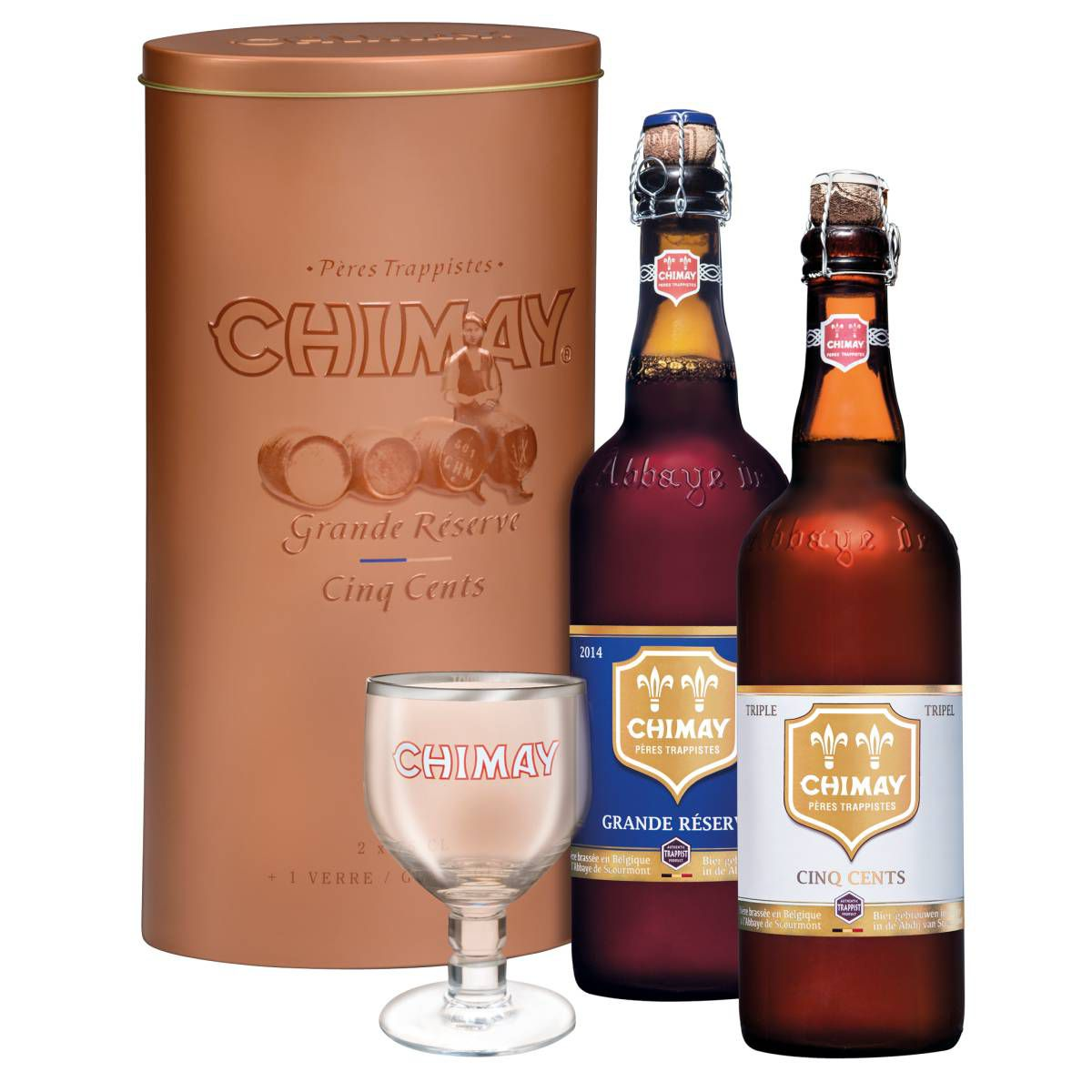Kit Metal Chimay Cinq Cents e Grand Reserve 750ml (2+1)