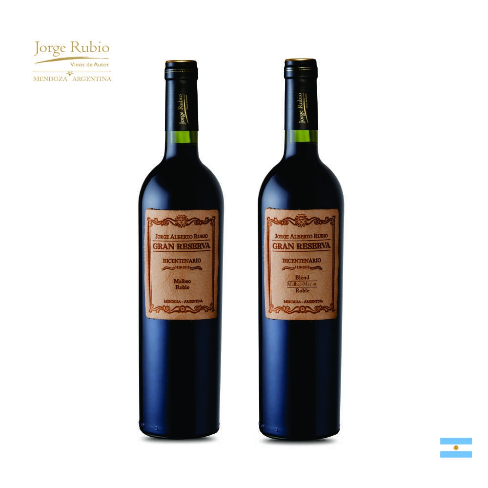 Kit Vinho Argentino Jorge Rubio Privado Gran Reserva 2 unidades  750 ml