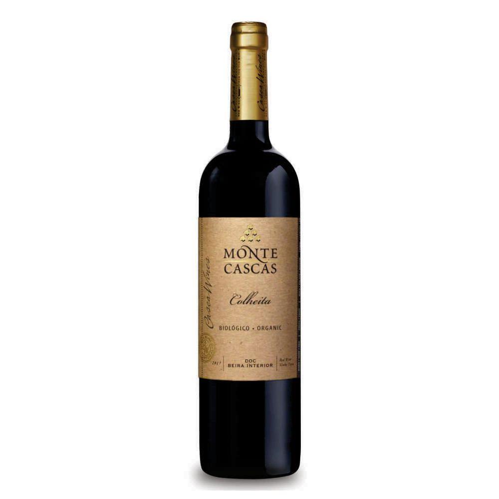 Vinho Português Monte Cascas Tinto Colheita Biológico Beira Interior 2018 - 750ml
