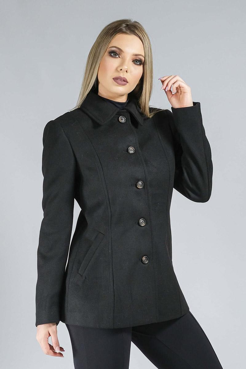 Casaco de Lã Premium Zurique Acinturado Preto Ref. 3563