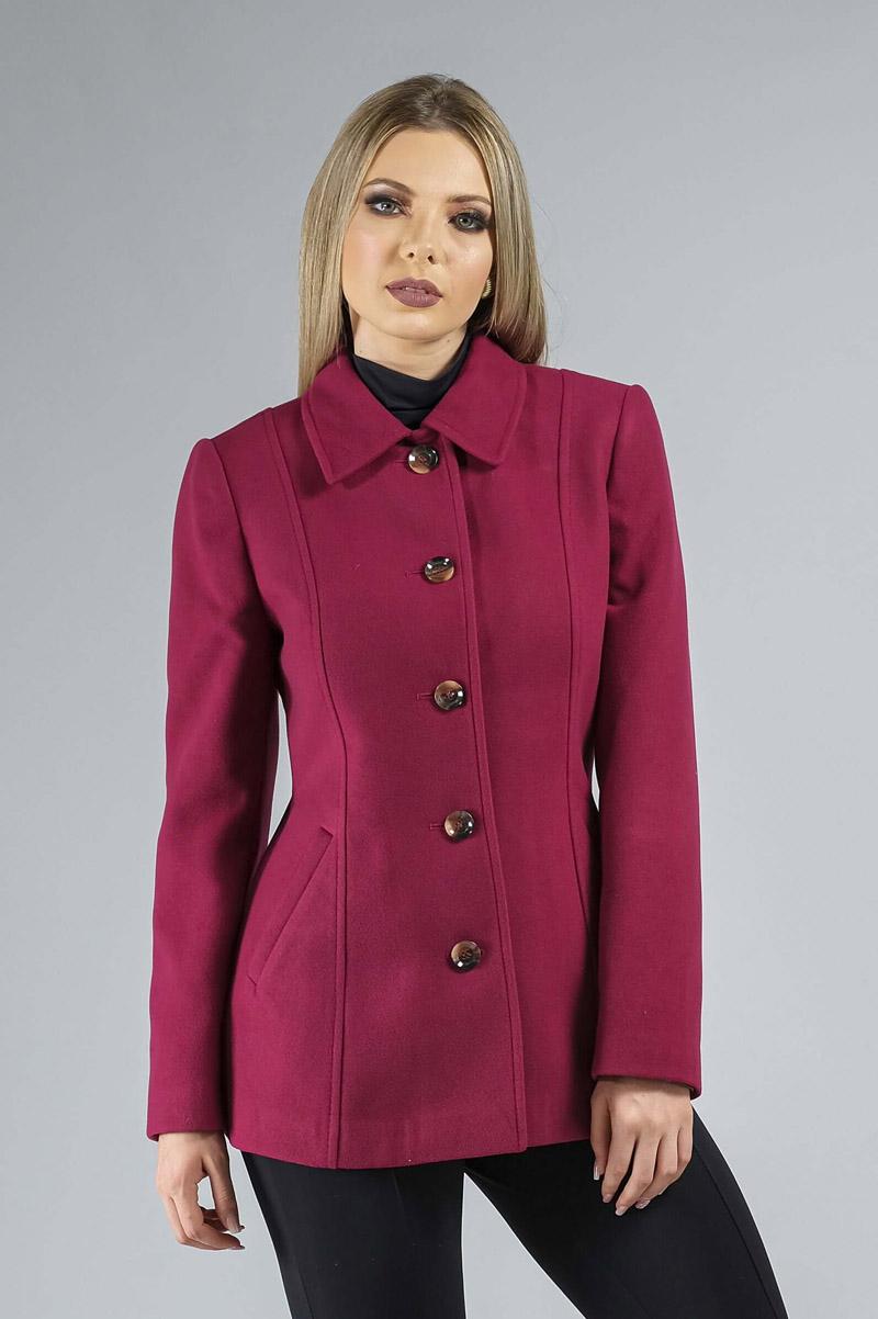 Casaco de Lã Premium Zurique Acinturado Rosa Ref. 3563