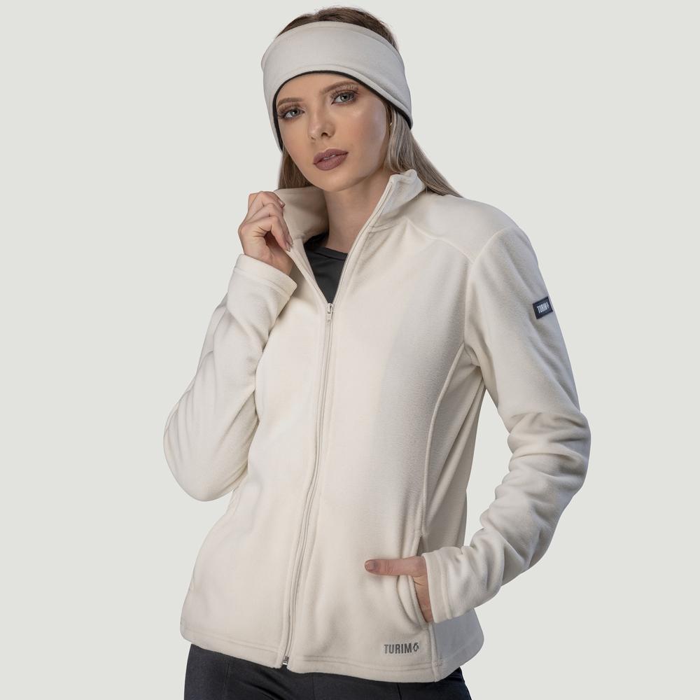 Casaco Fleece Térmico Cold Branco Ártico Ref. 637
