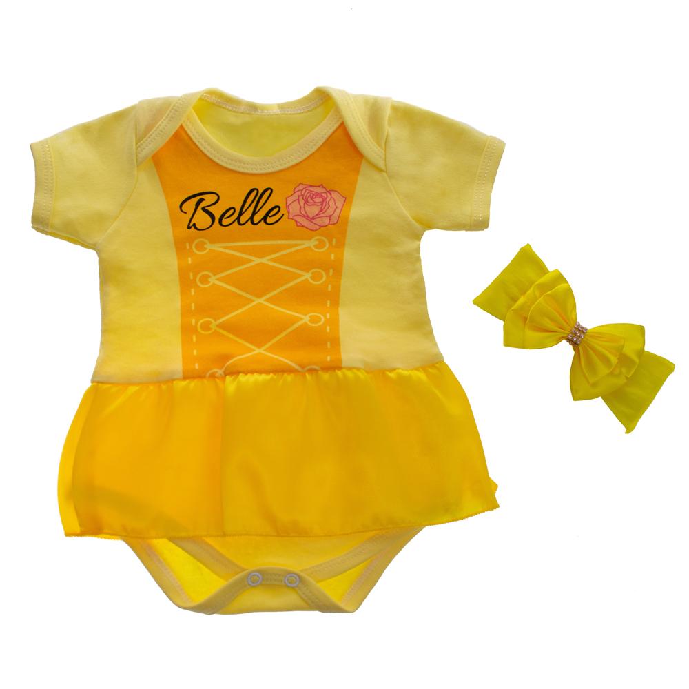 Body Bebê Menina Bella  Saia e Laço