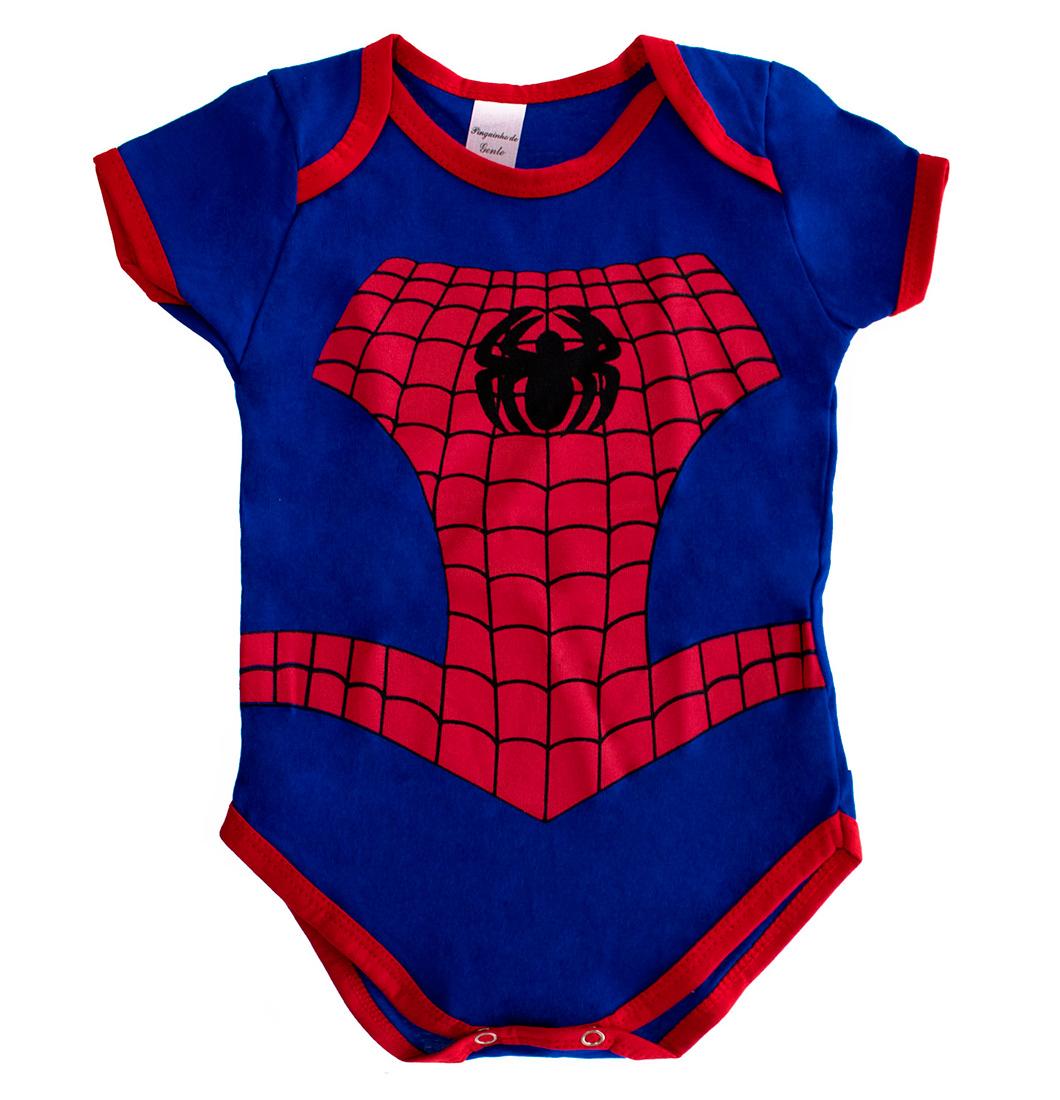 Body Bebê Menino Fofinho Homem Aranha