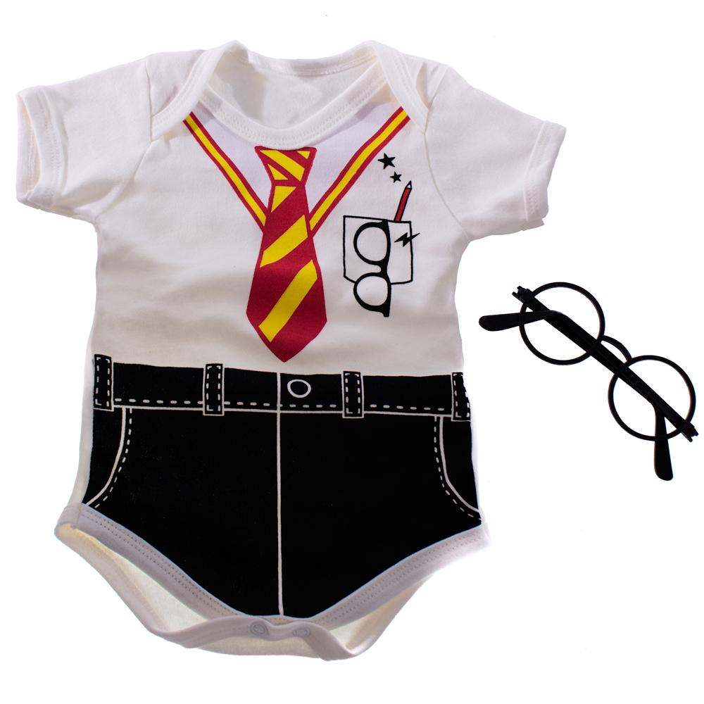 Body Bebê Menino Harry Potter Com Óculos