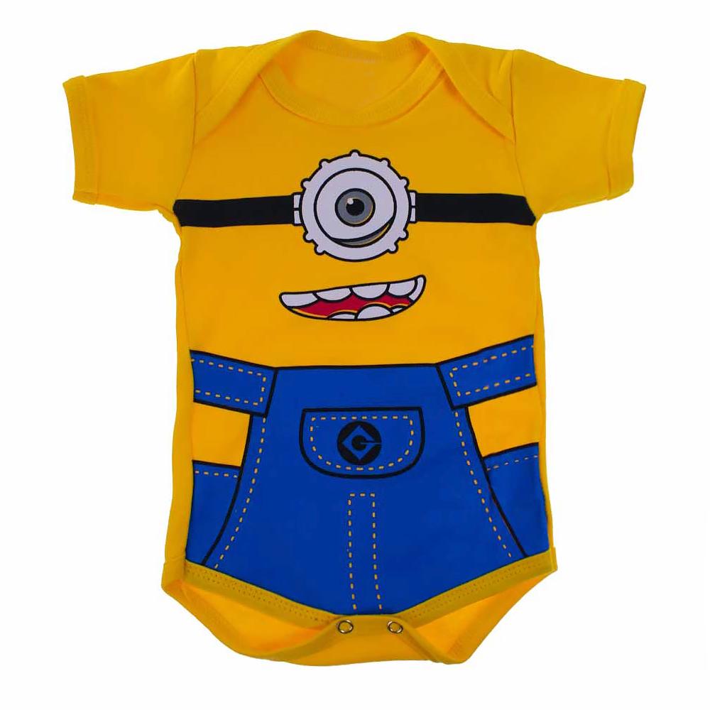 Body Bebê Menino Personagem Minions