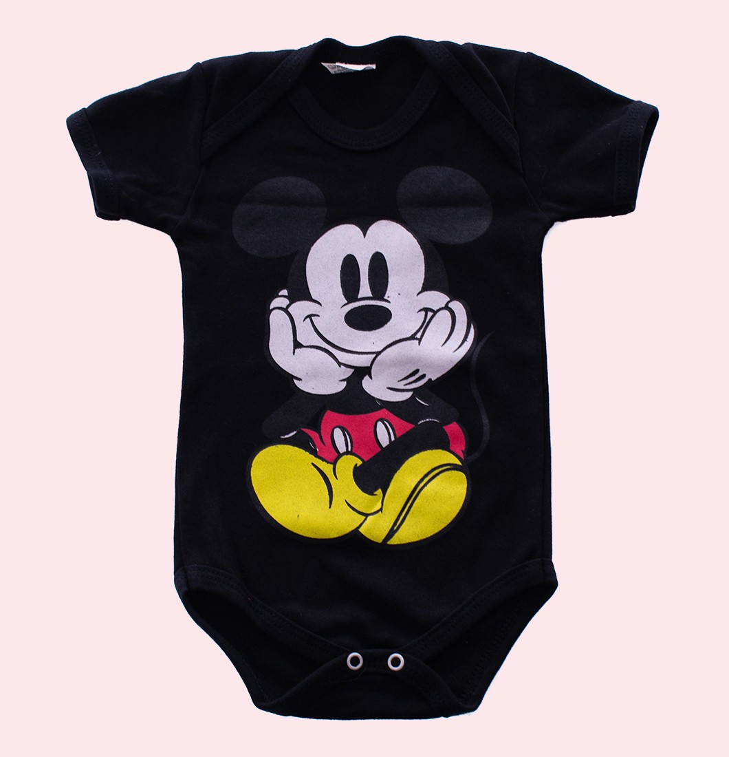 Body De Bebê Infantil Fantasia Mickey