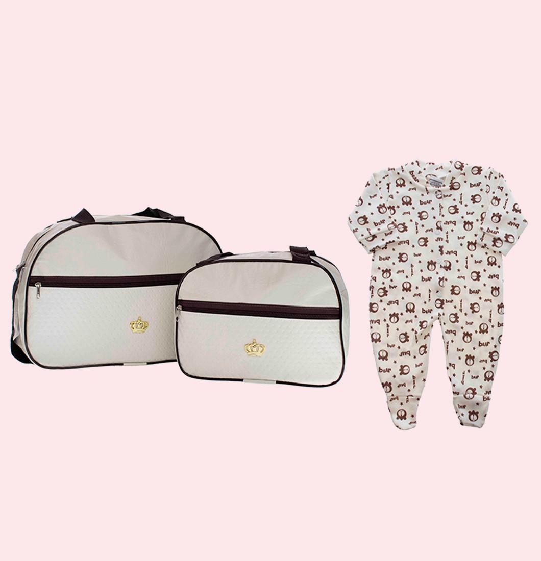 Kit Bolsa Maternidade Com Brinde
