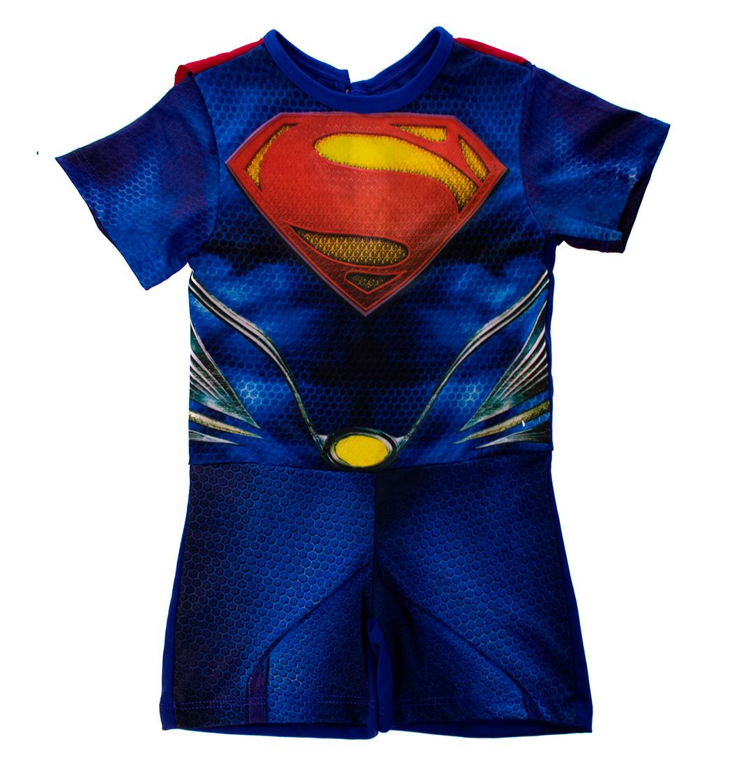 Roupa Infantil Fantasia De Menino Superman Com Capa