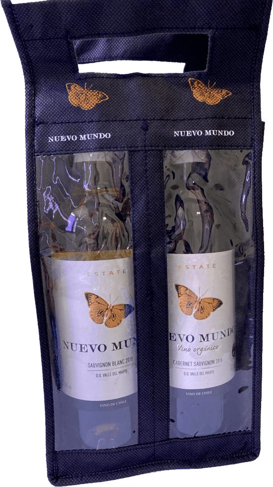 Ecobag Nuevo Mundo para 2 garrafas