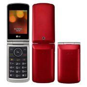 """Celular LG G360 flip Dual Sim Tela 3.0"""" Câmera, Rádio Fm Vermelho"""