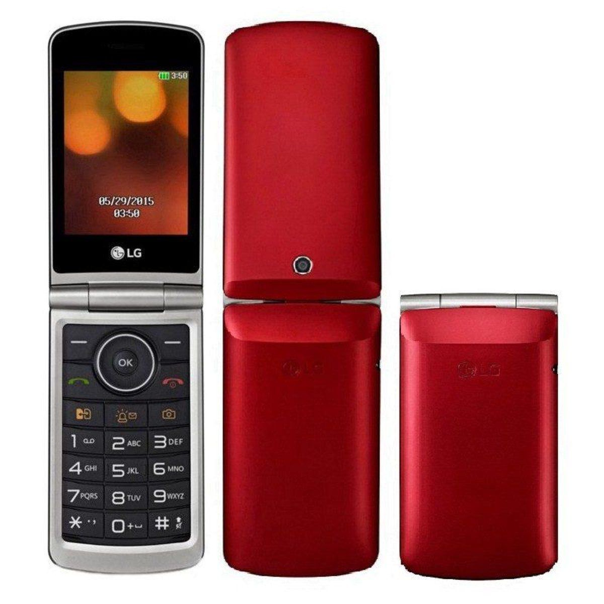 """af9ecfdae77 Celular LG G360 flip Dual Sim Tela 3.0"""" Câmera, Rádio Fm Vermelho ..."""