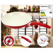 Frigideira de Aluminio revestida em Cerâmica 24CM - Série Cozinha Saudável - Vermelha
