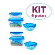 Kit 2 Conjuntos de Pote Hermético c/gel Quadrado Cool Gear