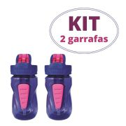 Kit 2 Garrafas Infantis Cool Gear Mini Quorra cor roxa