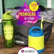 Kit Bolsa Térmica Igloo + Garrafa com gel + Pote térmico Cool Gear SNOTTRA