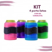 Kit de Porta Latas Cool Gear com gel