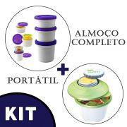 Pote Iogurte + Vasilha P Colocar Salada Gel Termico Ermetico