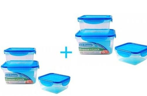 2 Conjuntos De Pote Hermético C/gel Quadrado Cool Gear