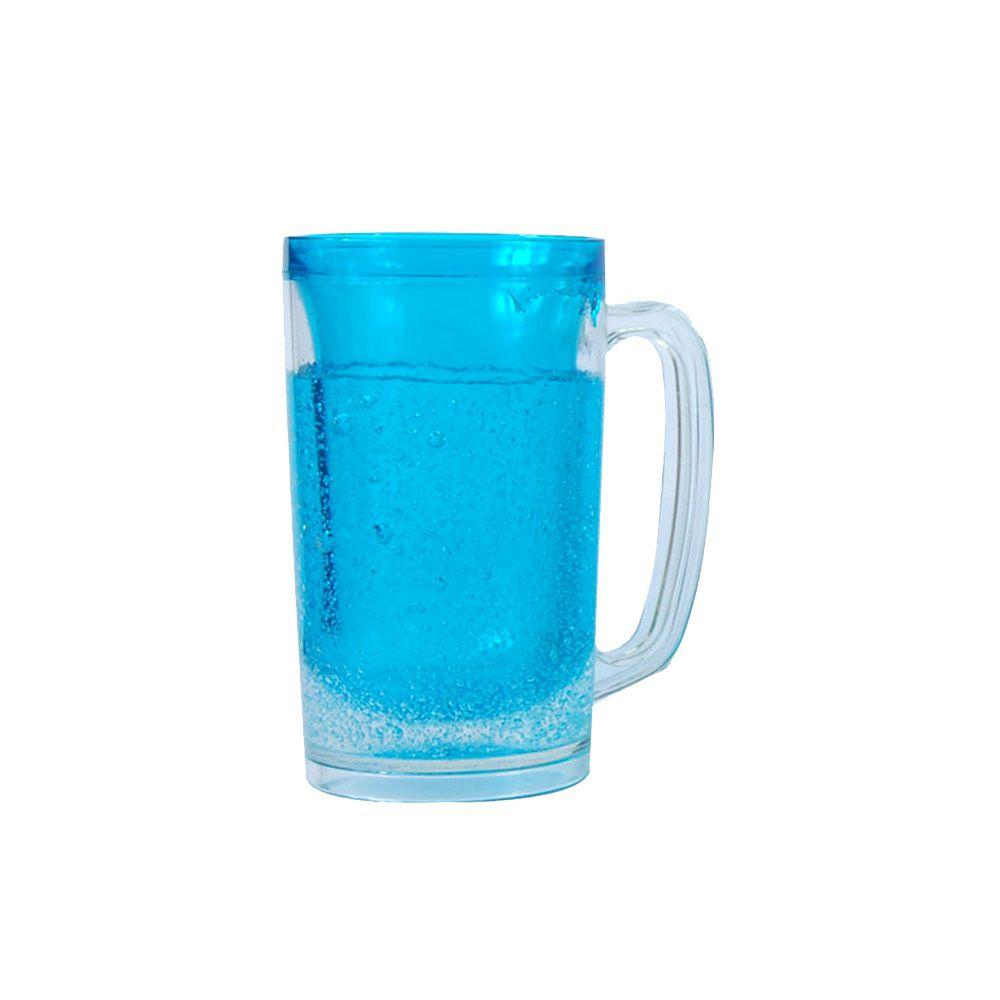 Caneca Cool Gear com gel azul