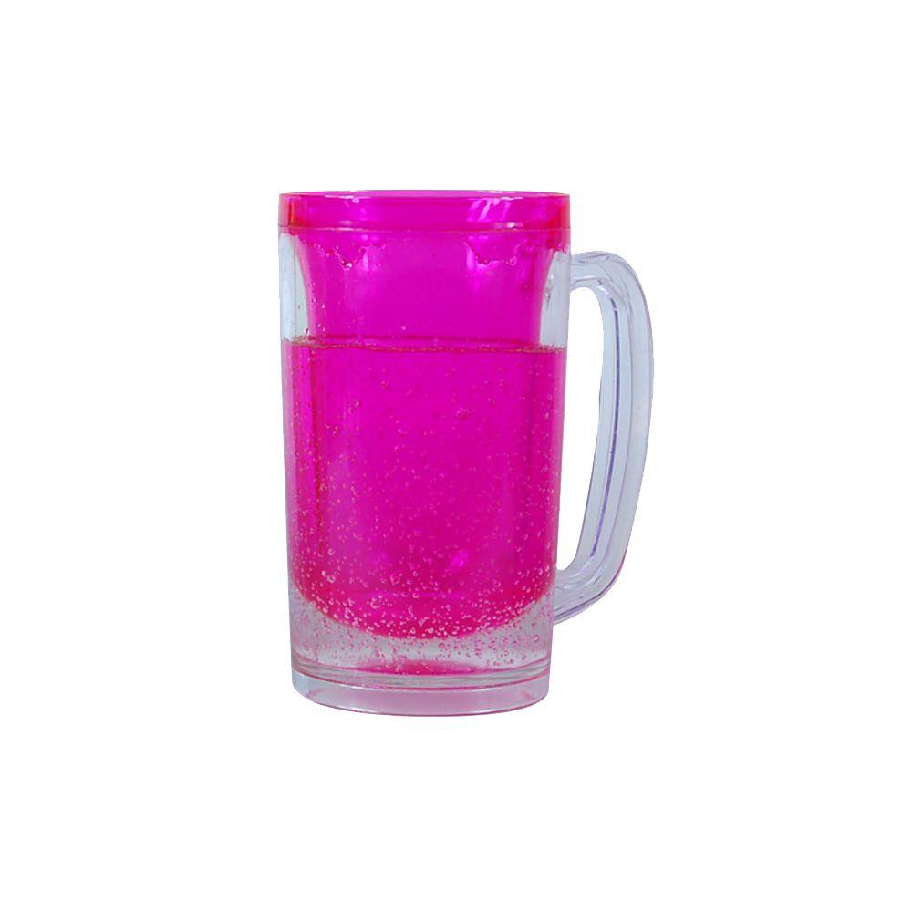 Caneca Cool Gear com gel rosa