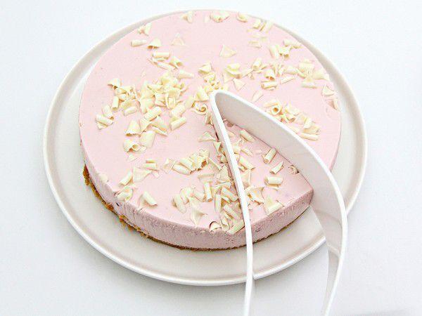 Espátula de bolo Magisso em plástico branco