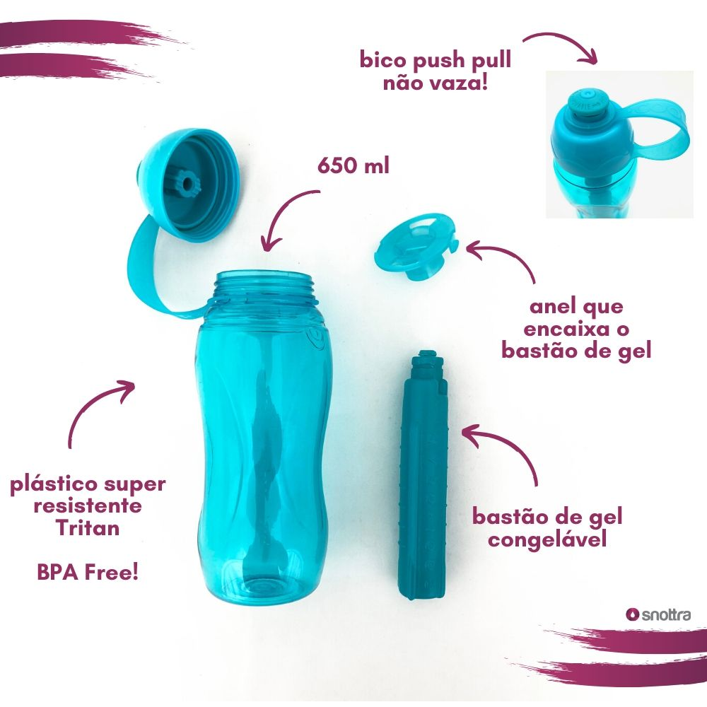 Garrafa Cool Gear Push Pull 650ml