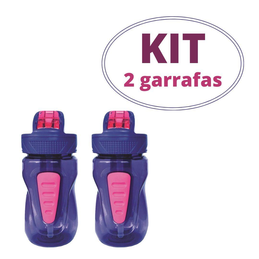 Kit 2 Garrafas Infantis Cool Gear Mini Quorra cor roxa