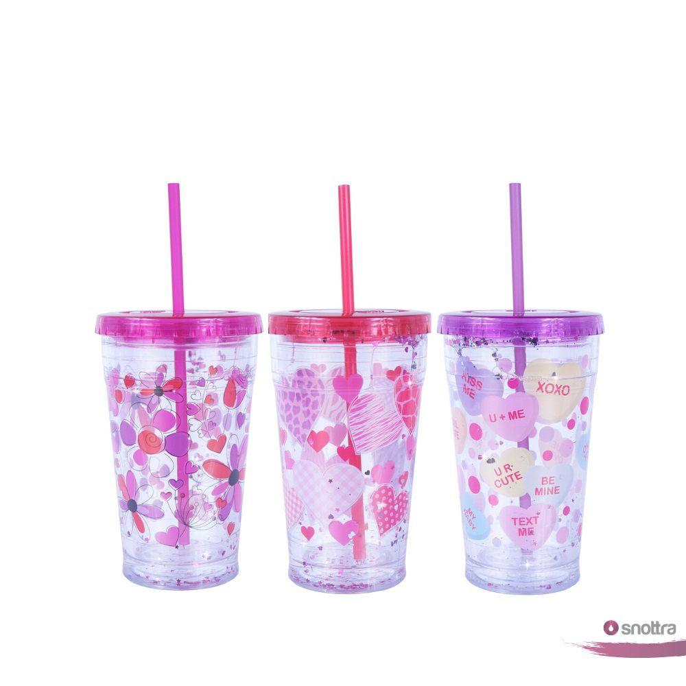 Kit com 3 copos para Meninas Purpurinadas